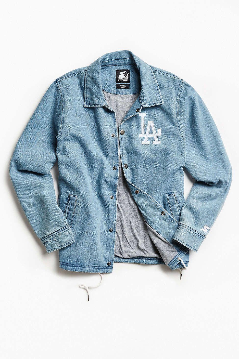 Starter Black Label Uo Los Angeles Denim Coach Jacket Denim Jacket Women Stylish Jackets Denim Jacket Men [ 1463 x 975 Pixel ]
