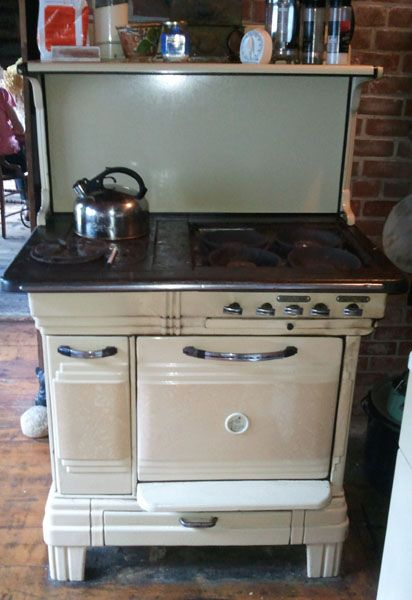 Single Oven Modern Maid Gas And Wood Dual Fuel Combination Antique Cook  Stove   GWKR121002