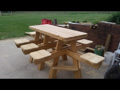 How To Build A Folding Picnic Table Youtube Picnic Table Woodworking Plans Picnic Table Plans Bbq Table