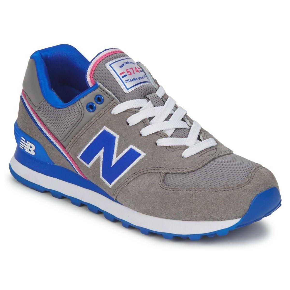 New Balance 574 Women's Grey Blue Wl574   New Balance 574