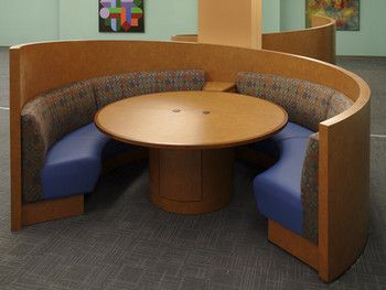 Something Like This Round Booth But Maybe Around A Kind Of Low - Round booth table