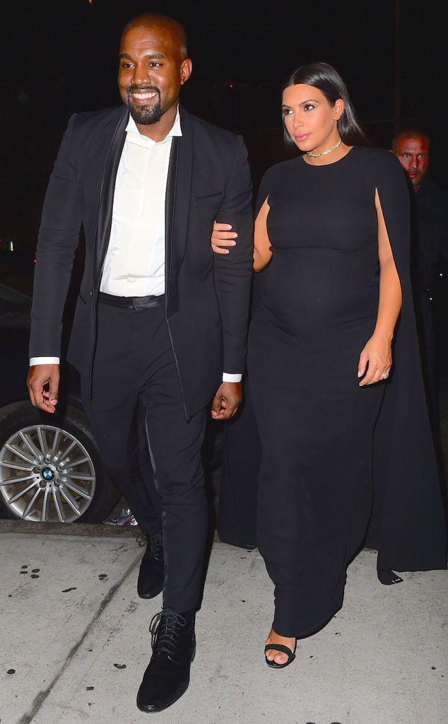 Kim Kardashian Shows Baby Bump In Caped Dress At Wedding Photo Kim Kardashian And Kanye Kim K And Kanye Kim Kardashian Show