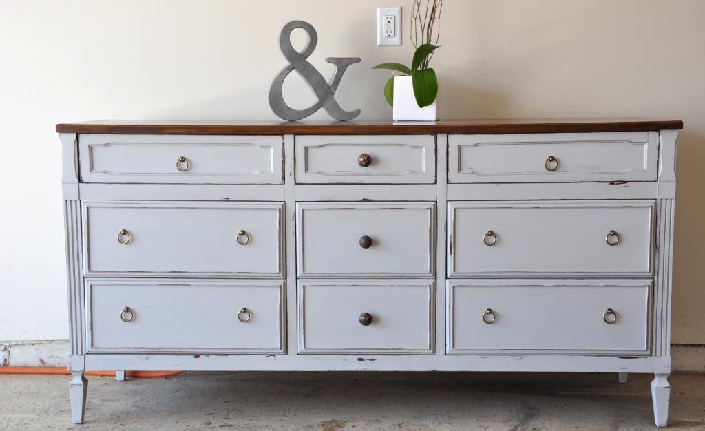 Nine Drawer Dresser Buffet Redo Furniture Renovation