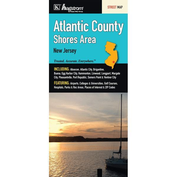 Atlantic County Shores Area Fold Map (Set of 2)