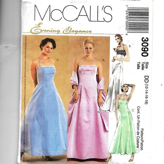 ba96b9f4a19 McCall s Misses  Miss Petite Lined Dress In Two Lengths and Stole Pattern  3090