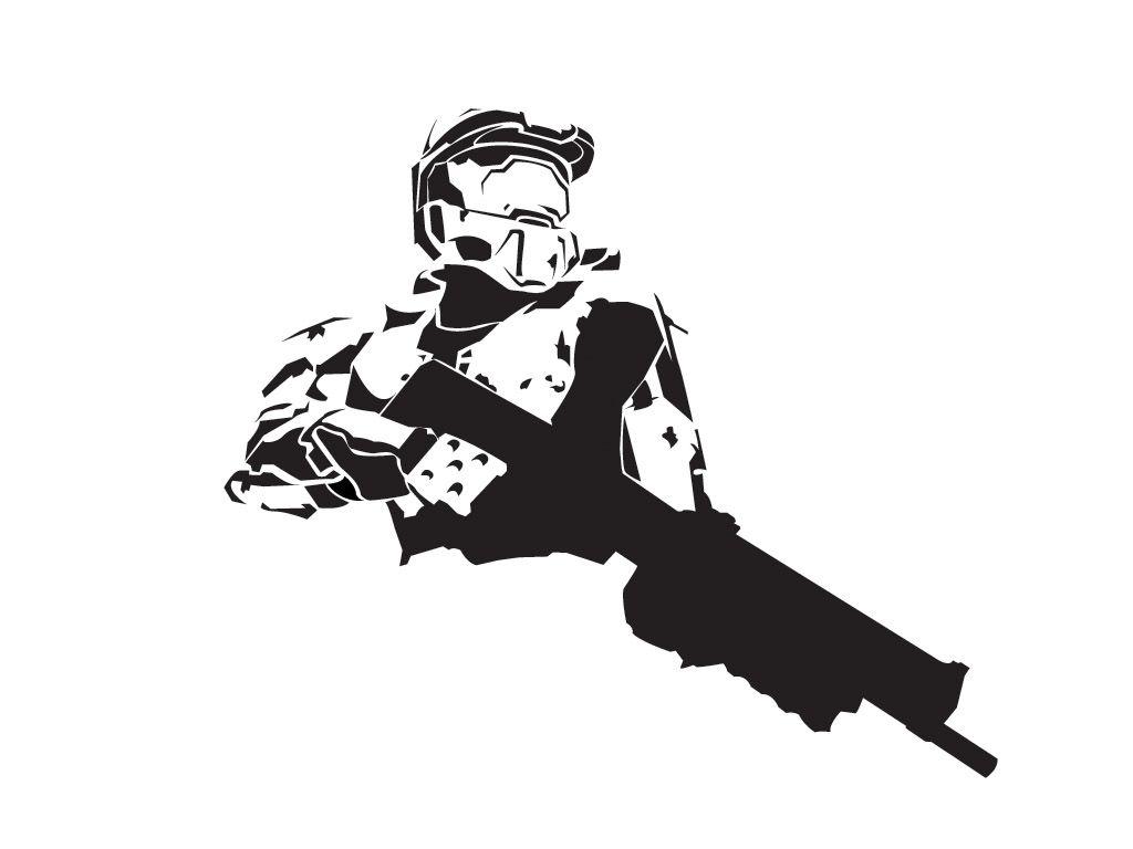 Master Chief Stencil Template
