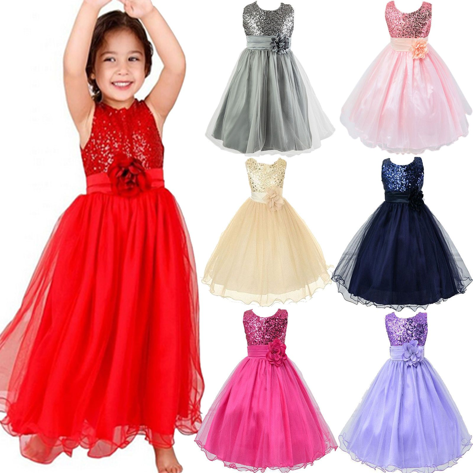 Cool amazing kids girls formal prom gown wedding bridesmaid dress