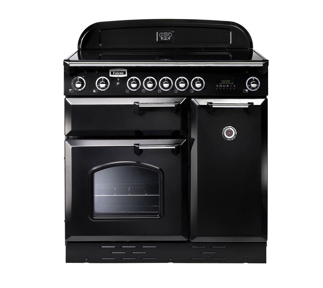 Cuisinière Induction FALCON CLASEIBLCEU Noir Chrome Cuisine - Cuisiniere electrique et gaz pour idees de deco de cuisine