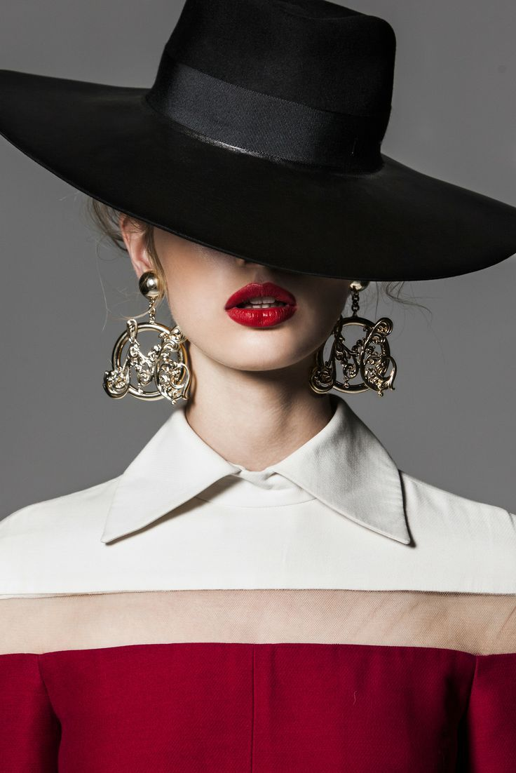 Black Hat Red Lips Fancy Hats Fashion Hats For Women