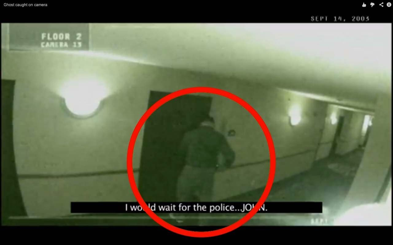 Scary ghost caught on tape by security camera   Real ghost