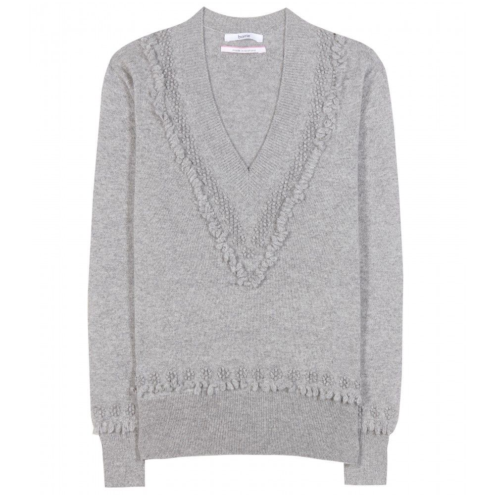 Barrie - Cashmere sweater - Textured fringe-style embroidery lends a quirky  finish to this
