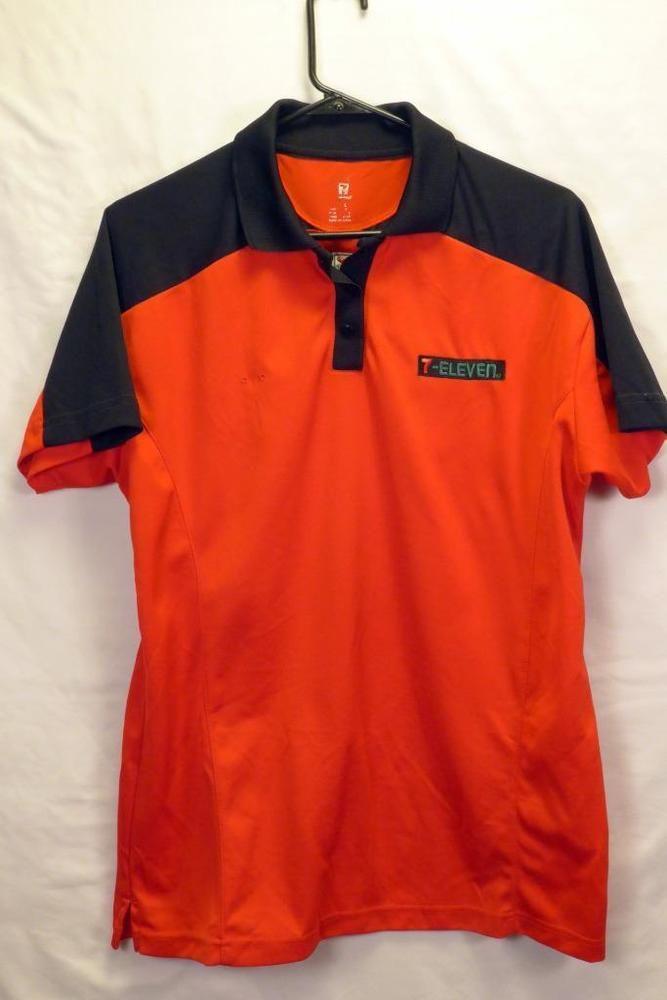 Official  Eleven  Employee Uniform Shirt Euc Red Mens Size