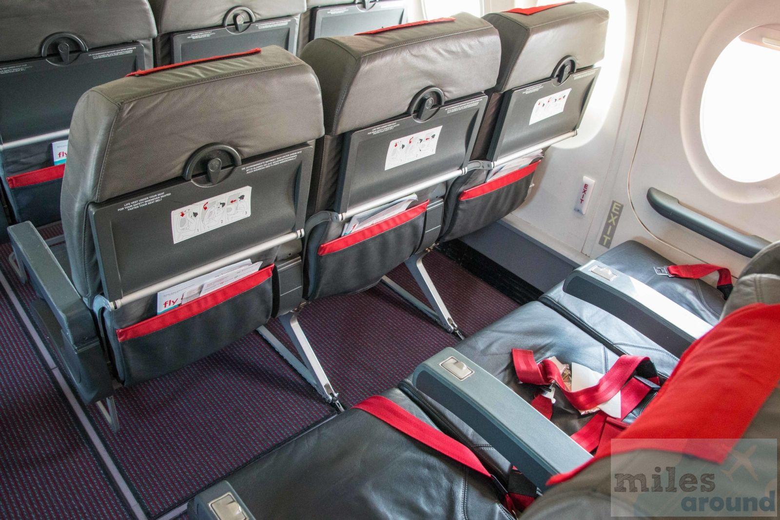 Austrian Airlines Economy Class in der Fokker 100 nach