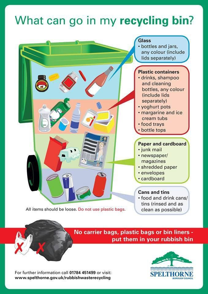 What can go in my recycling bins recycling green for Facts about going green