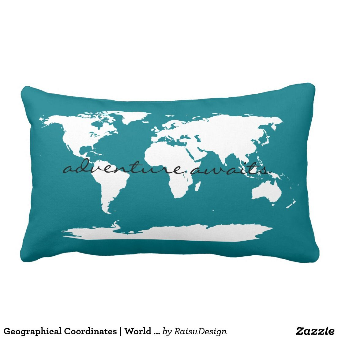 Geographical coordinates world map pillow travel themed nursery geographical coordinates world map pillow gumiabroncs Gallery