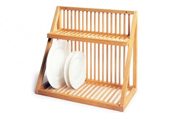 The Wall Mounted Dish Rack From Uk Kitchen David Mellor Is Made Of Beech With Birch Dowels In Us Iowa Based Woodform Makes A Similar Style Plate