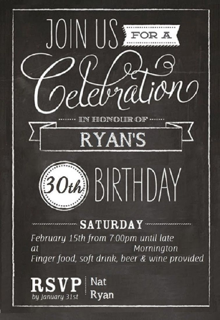 30th Birthday Invitations Templates Free 30th Birthday Invitations 50th Birthday Invitations Party Invite Template