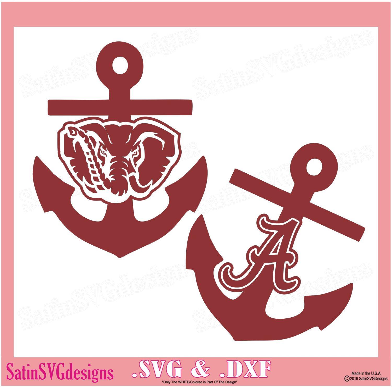 alabama crimson tide anchor roll tide design set use silhouette studio software  [ 1500 x 1478 Pixel ]
