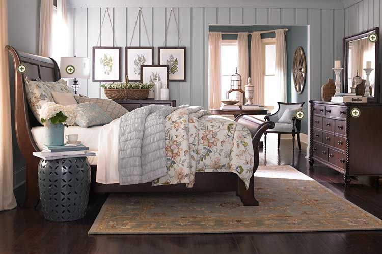 Bassett Furniture Bedroom Moultrie Park Sleigh Bed Bedrooms