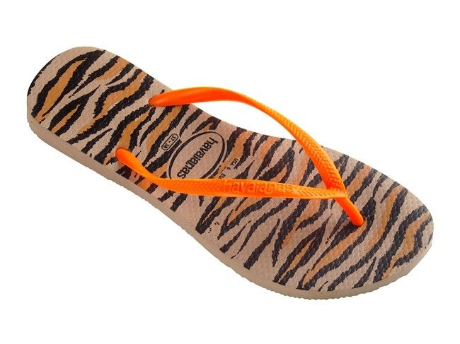 f907587ae Slim Animals Fluo Tiger Havianas Flip Flops
