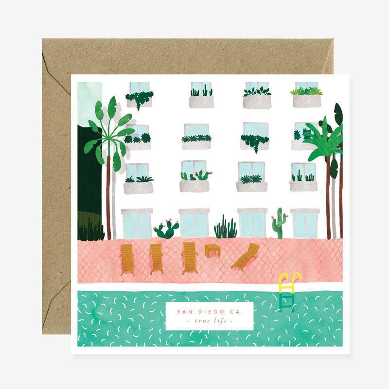 Square Card, Square Envelopes, Cards