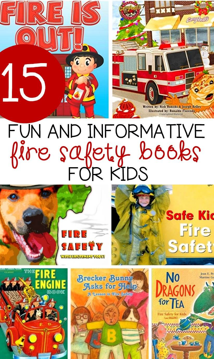 Fire Safety Books for Kids Fire safety for kids, Fire