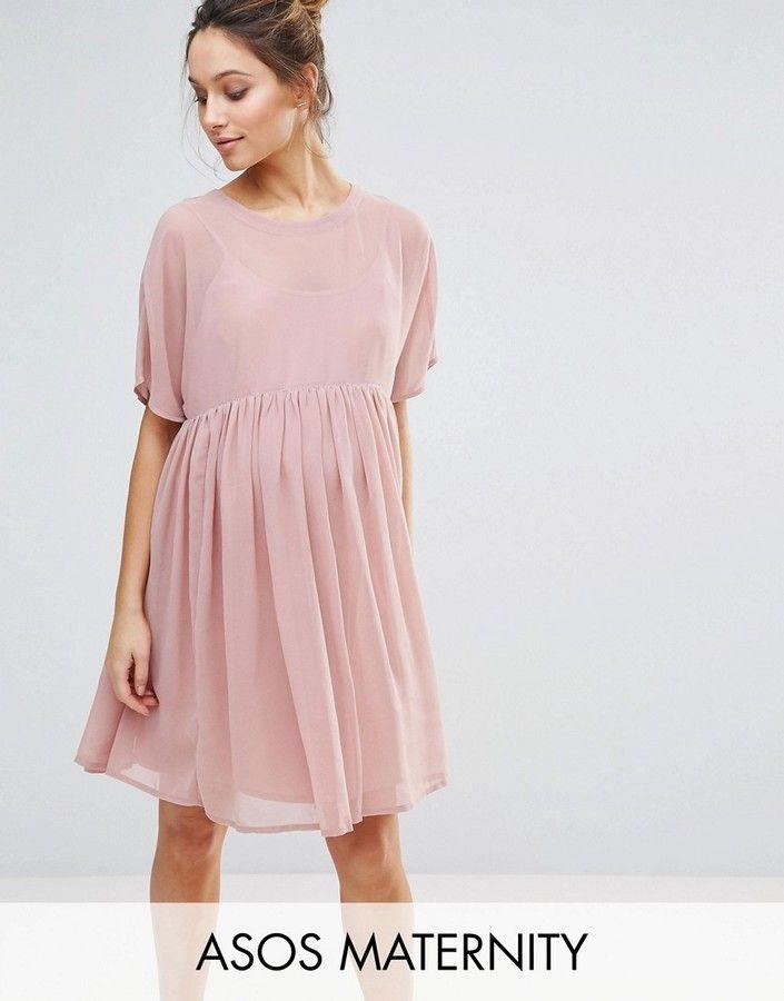 b50eae918fa0d Asos Maternity Woven Smock Dress | Mama | Maternity dresses, Asos ...