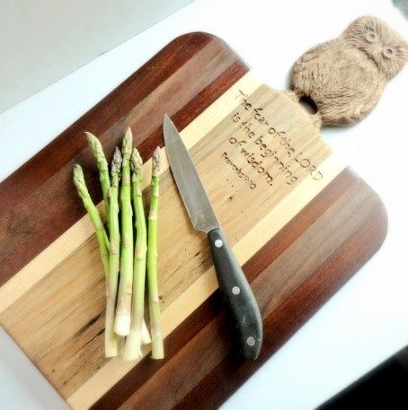 Carved Wood Cutting Board Christian Scripture by HeavenlyHomeGifts, $200.00