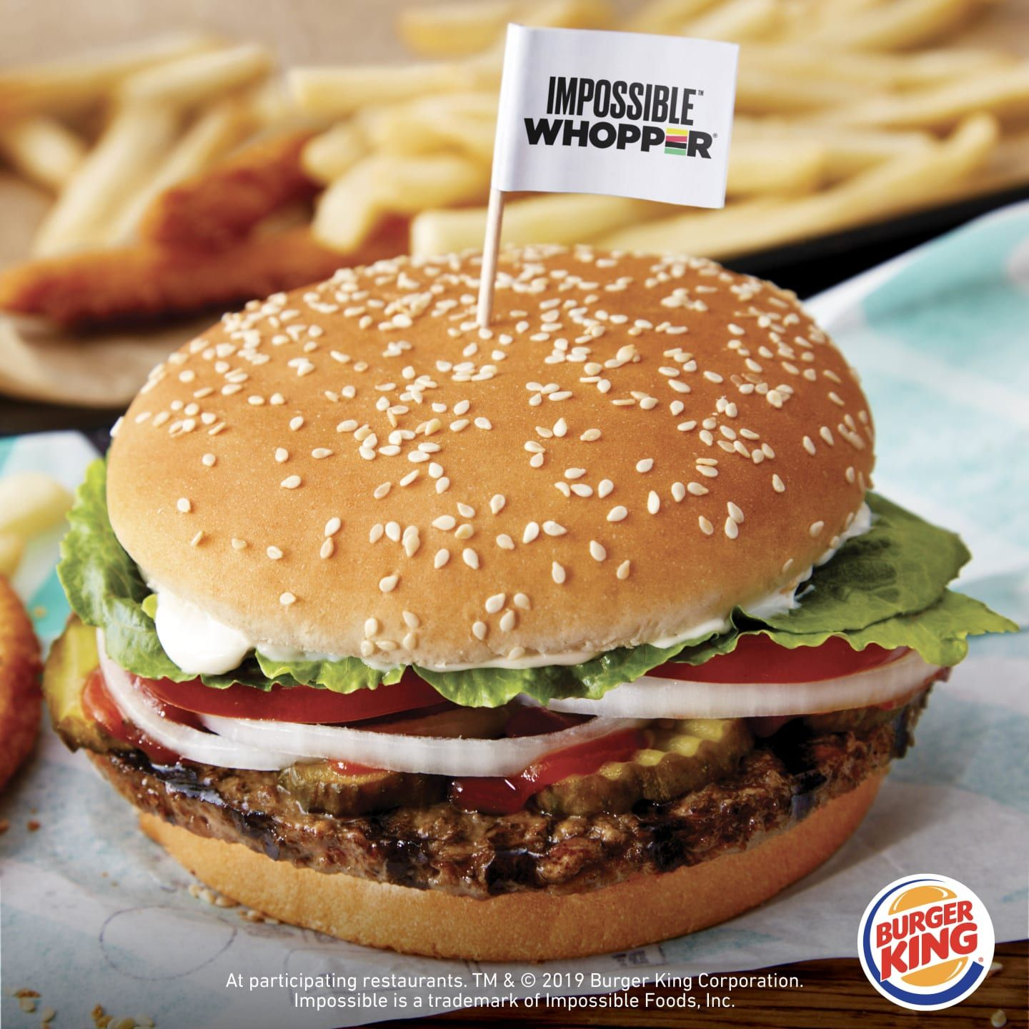 Burger King Launches Its Vegan Impossible Whopper In 100 Outlets Across California Iheartvegans Impossible Burger Burger Burger King