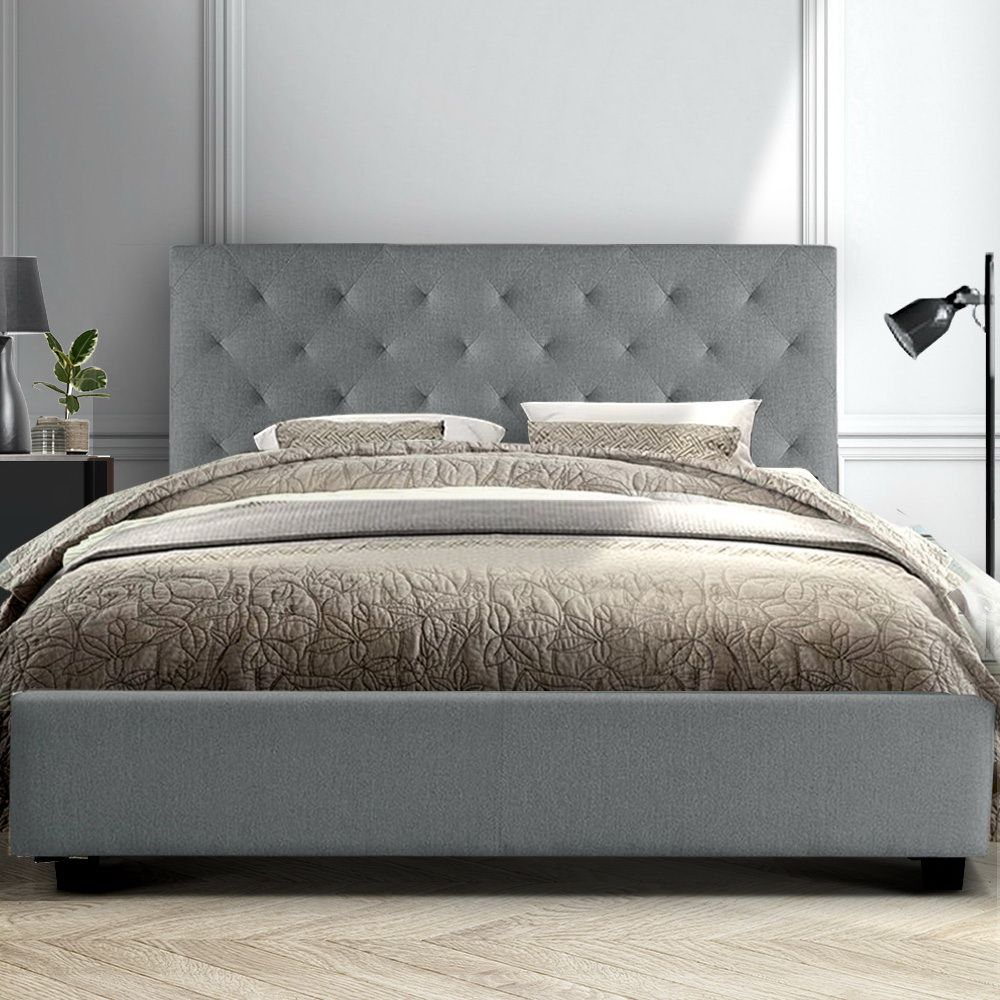Holborn Grey Queen Bed Frame Online Only In 2020 Queen Size