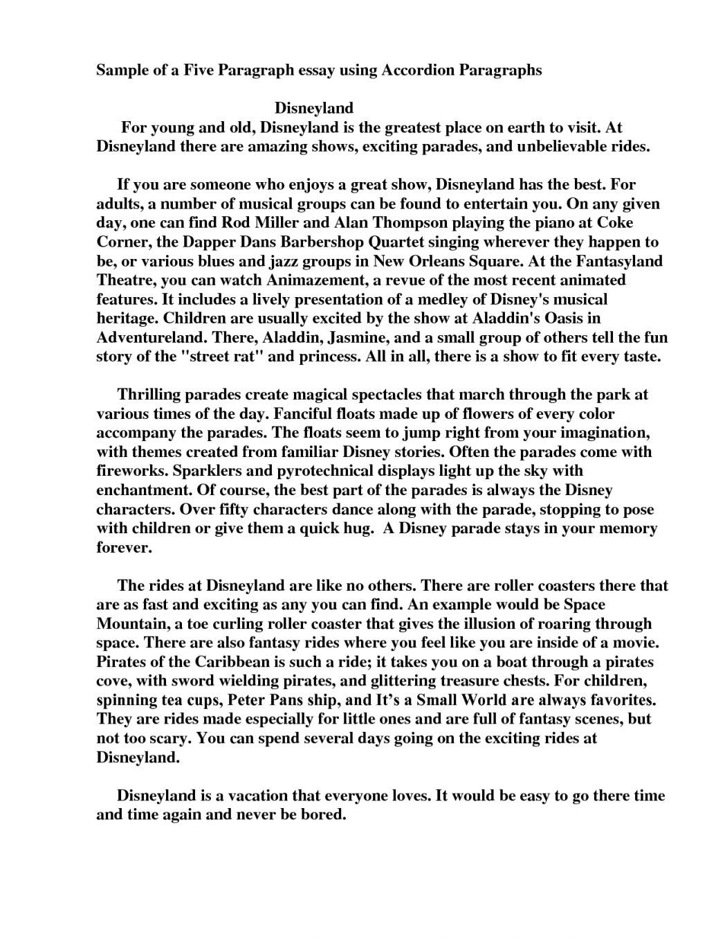 3 Paragraph Essay Outline Printables Corner How To