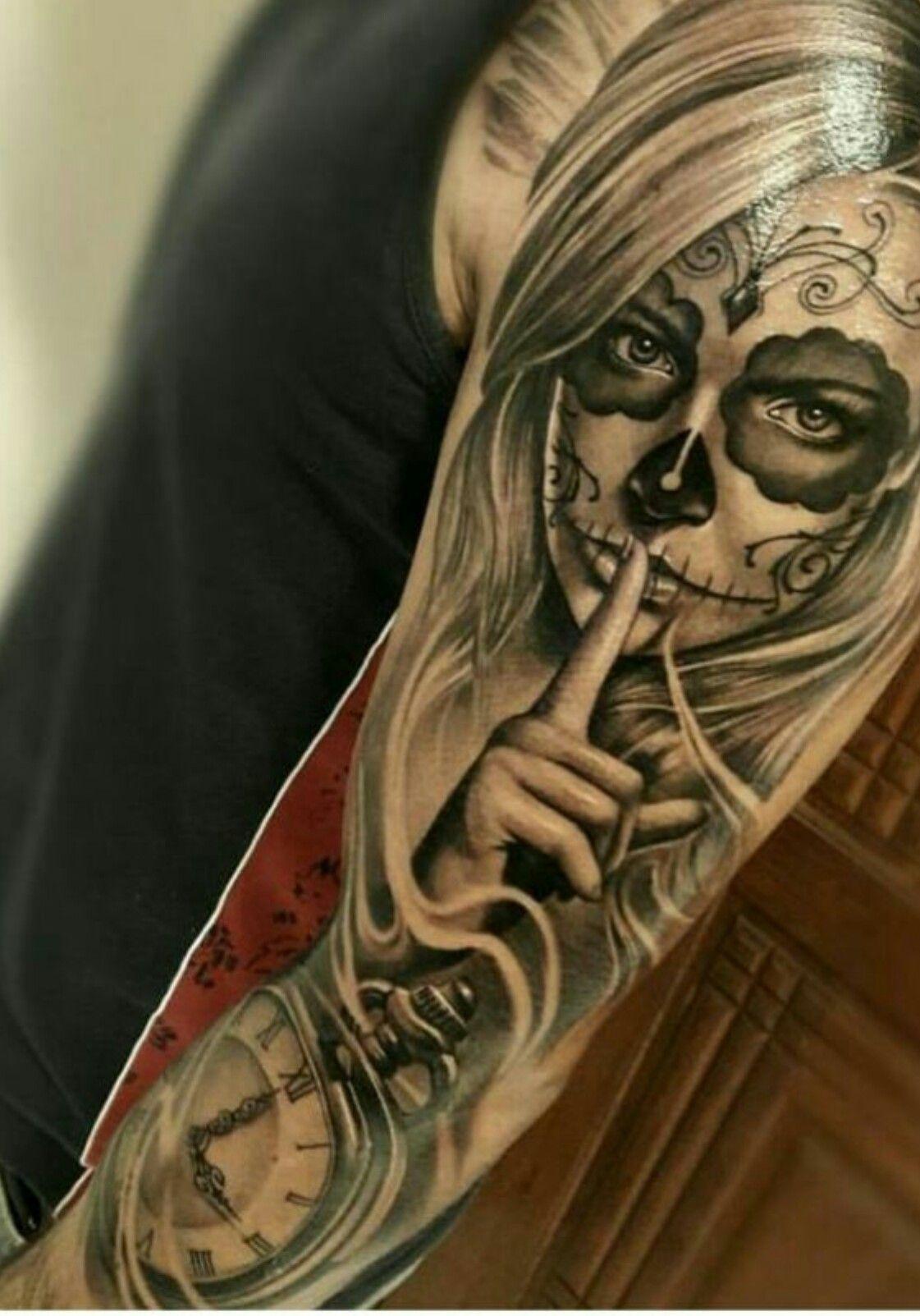 Pin By Arturo Flores On Tattoos Tatouage Tatouage Santa Muerte