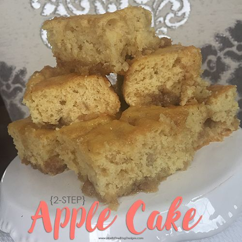 2 Step Apple Cake Recipe Apple Cake Recipes Boxed Cake Mixes Recipes Dessert Recipes Easy