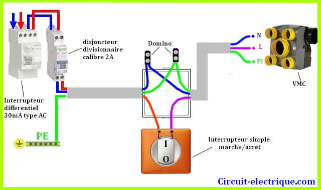 Schema De Branchement Vmc Simple Double Flux Branchement Vmc Circuit Electrique Circuit