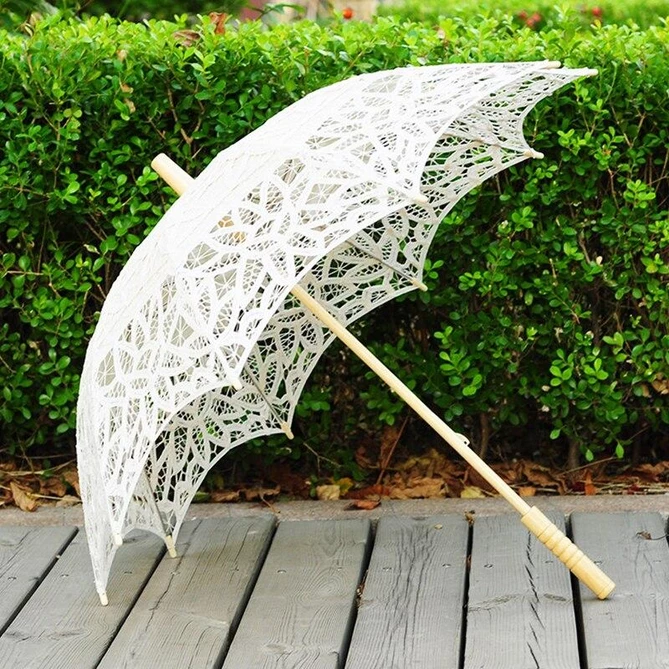 100 Cotton Handmade Lace Wedding Umbrellas Bridelily Bridelily Com Bridelily Wedding Wedding Umbrella Wedding Photography Decor Parasol Wedding