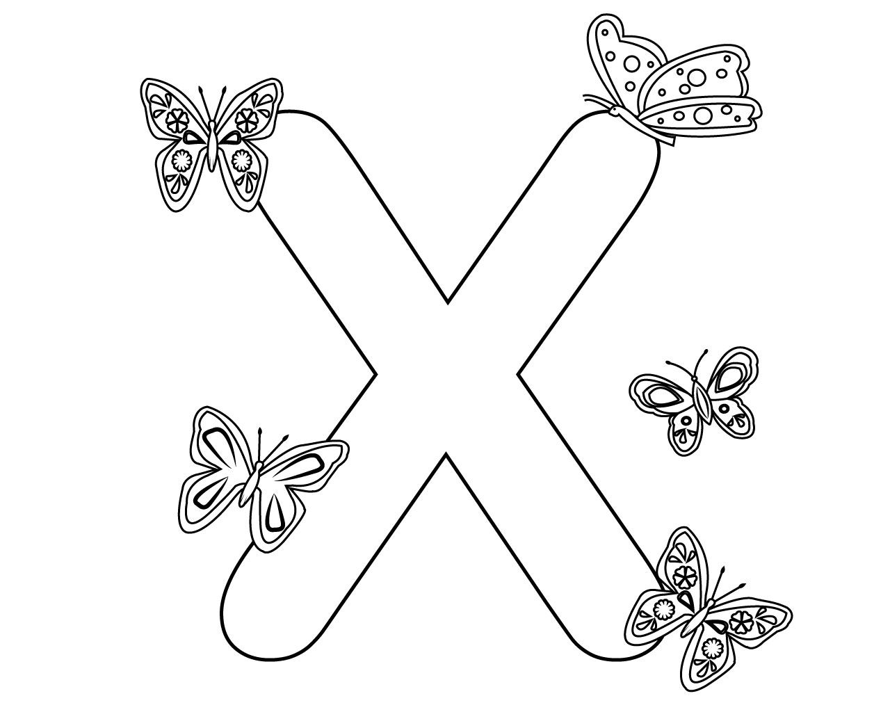 Letter X Coloring Pages For Toddlers Coloring Pages Printable Letters Free Printable Letters