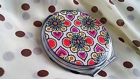 Zrkadielka - Zrkadielko kabelkové s krásnym vzorom
