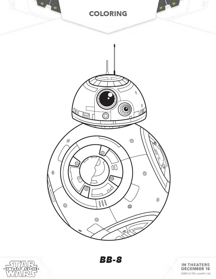 free star wars the force awakens coloring sheets activities 22 pages of free printable kids coloring sheets activities for star wars - Printable Coloring Pages Star Wars