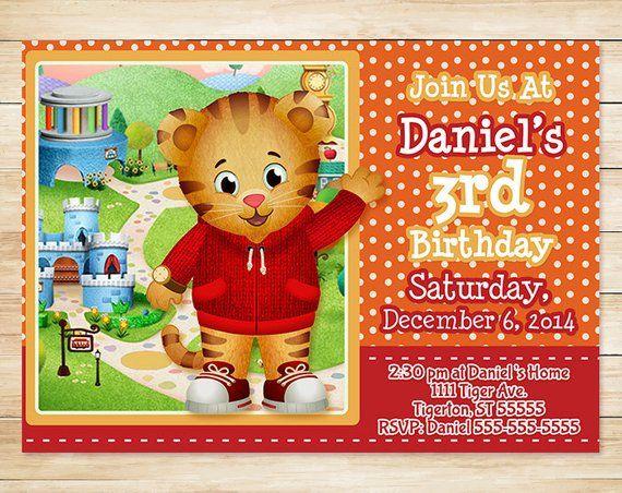 Daniel Tiger Invitation Orange Daniel Tiger Birthday Party