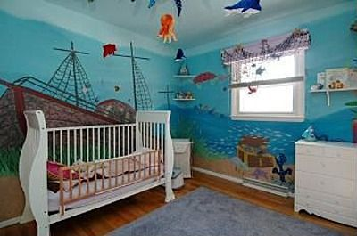 Under The Sea Themed Nursery | Sea Nursery, Sea Nursery Boy, Nursery Room