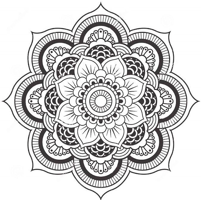 Lotus Flower Mandala Coloring Pages Mandala Tattoo Design