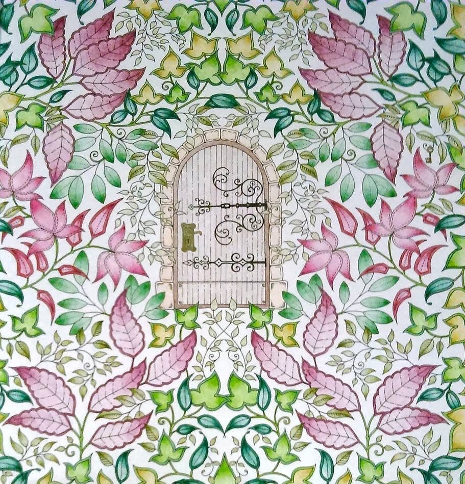 johanna basford secret garden enchanted forest colouring in adults inky treasures - My Secret Garden Coloring Book