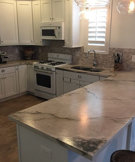 Concrete Countertops   Cement counter tops and floors   Pinterest ...