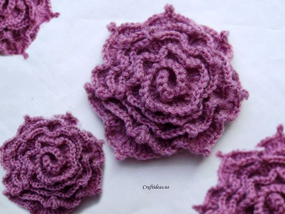 Crochet Rose Crochet Irish Rose Craft Ideas Crafts For Kids