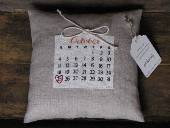 2nd anniversary pillow made from cotton material projects to try