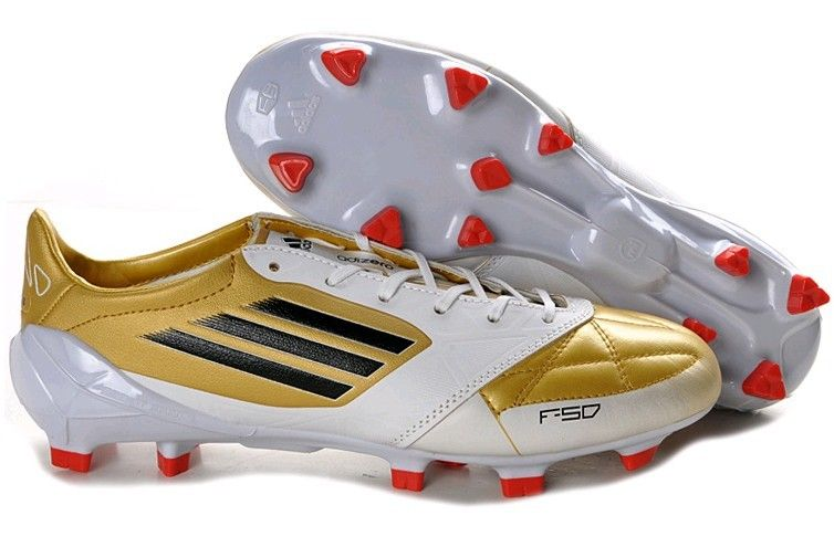 Adidas F50 Adizero TRX FG Leather Firm Ground Mens Soccer Cleats(White Gold  Energy)