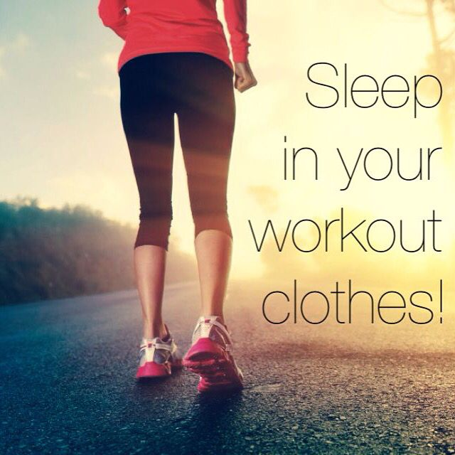 Image result for sleeping in workout clothes