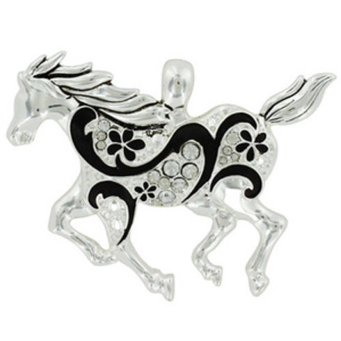 Crystal Accented Floral Swirled Horse Pendant: https://www.outbid.com/auctions/3614-fashion-forward-bags-and-jewelry-auction#50