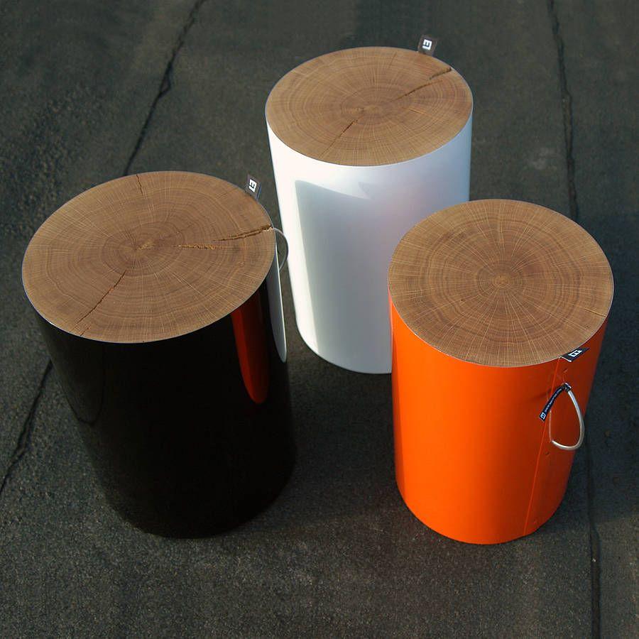 Oak trunk stool by eside notonthehighstreet products