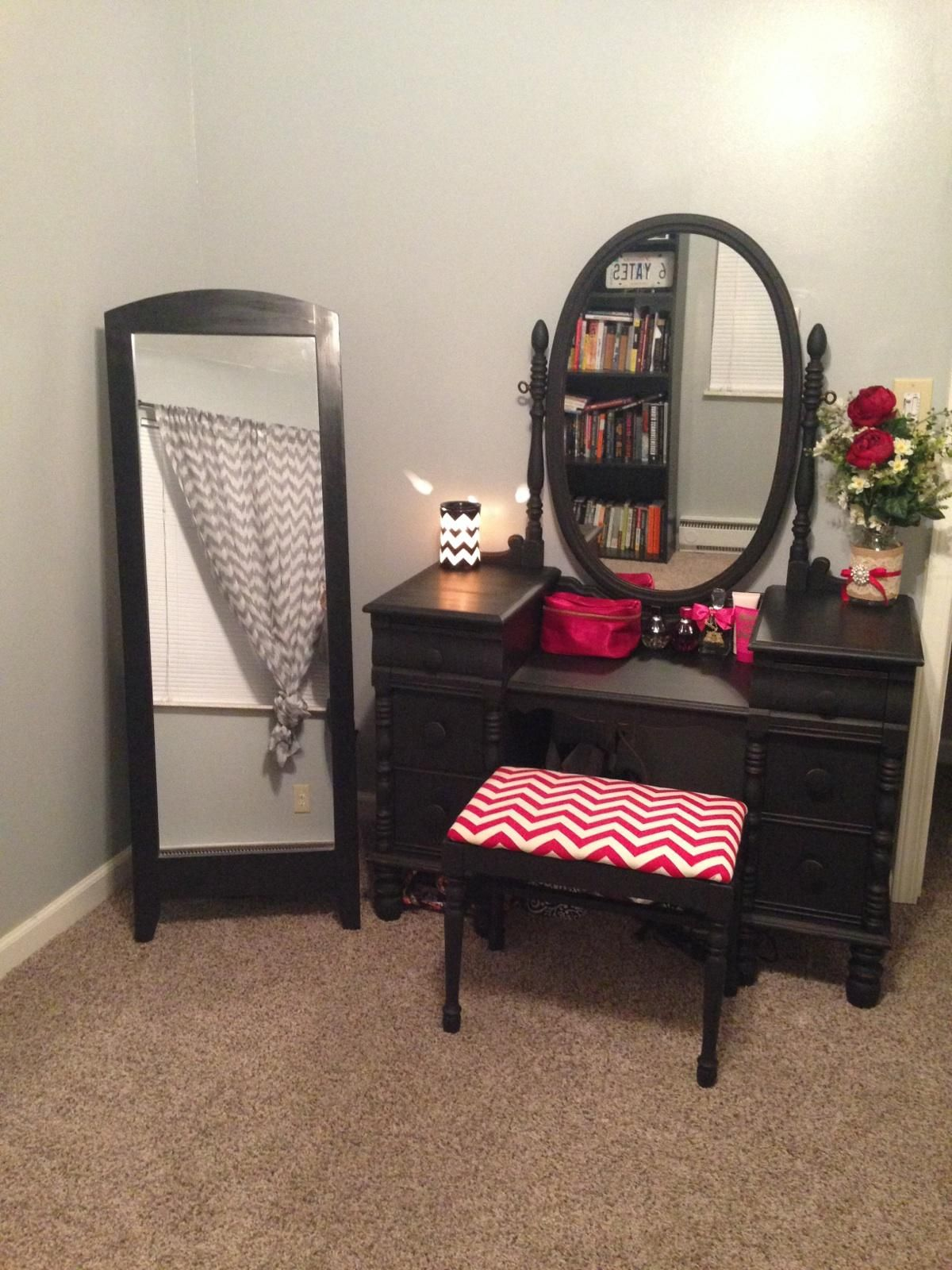 innovative girls bedroom furniture ideas | Custom refinished vanity and bench by Sweetashleyscottage ...